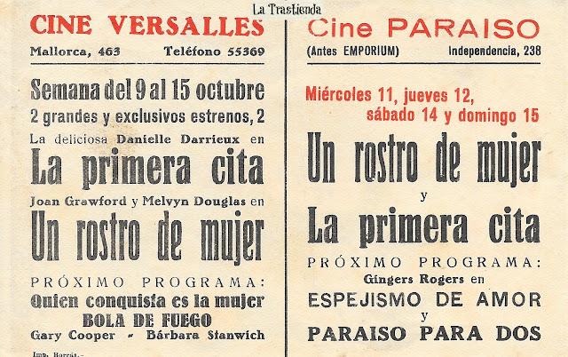 Programa de Cine - Un Rostro de Mujer - Joan Crawford - Melvyn Douglas