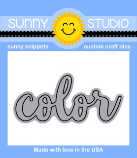 Sunny Studio Stamps: Introducing Color Word Die releasing January 2016