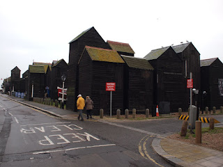 Fishermen's huts in Hastings, Sussex