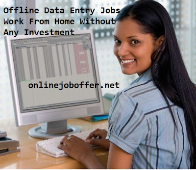 Offline Data Entry Jobs Work From Home Without Any Investment