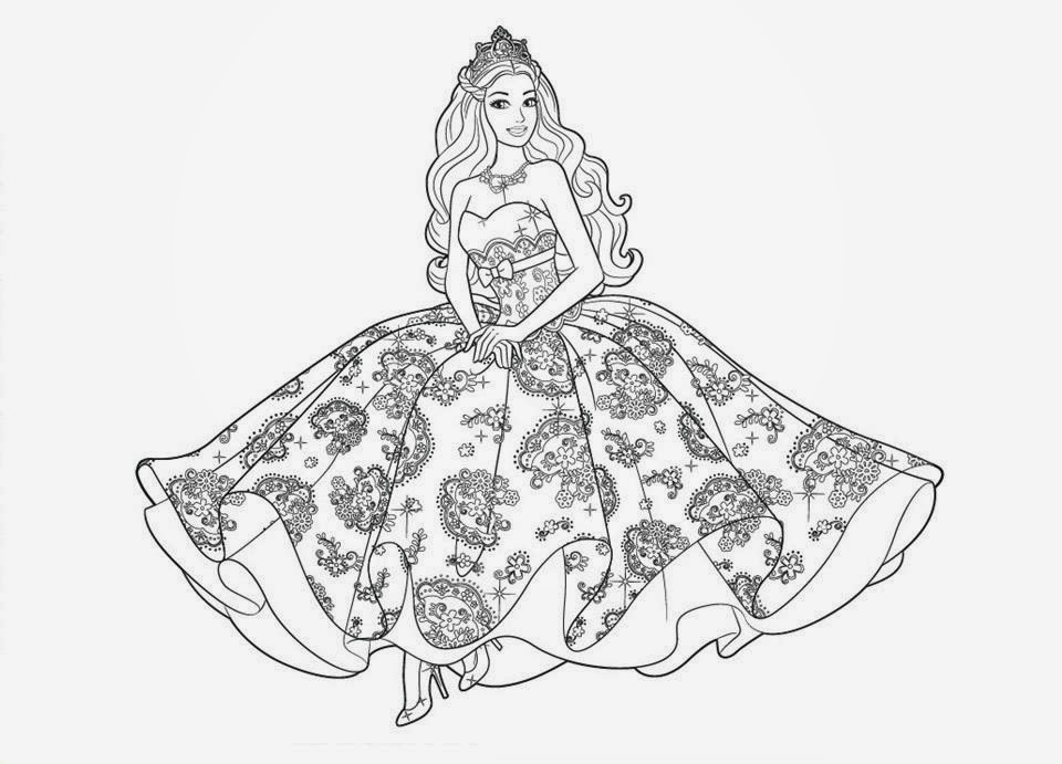Colour Drawing Free Wallpaper: Barbie Coloring Drawing
