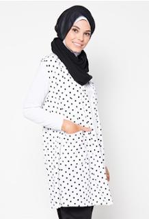 30 Gambar Padupadan Baju Muslim Polkadot Tampil Menawan Dan Cantik