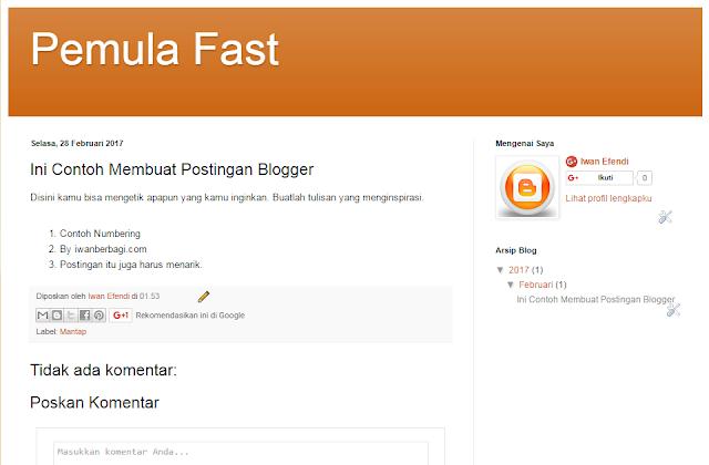 Membuat Blog Gratis Dengan Mudah Di Blogger.com