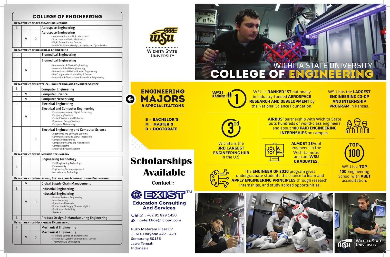 Anda layak mendapatkan Beasiswa Pendidikan di Wichita University, USA?