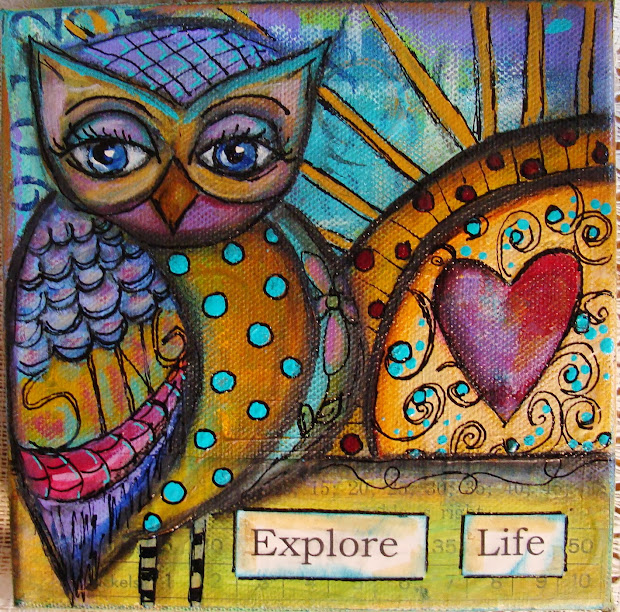 Whimsical Owl Acrylic Painting