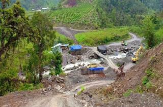 Area proyek Trans Papua lokasi penembakan para pekerja oleh OPM di Nduga, Papua./Foto/Istimewa/