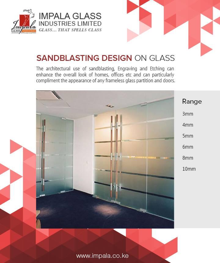 Personalised sandblasted glass designs - Sandblasted Glass