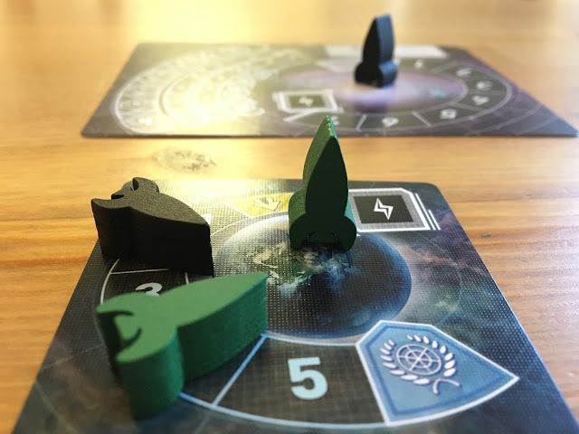 Tiny Epic Galaxies Gamelyn games Gameplay Beyond the Black Expansion Photo by Benjamin Kocher