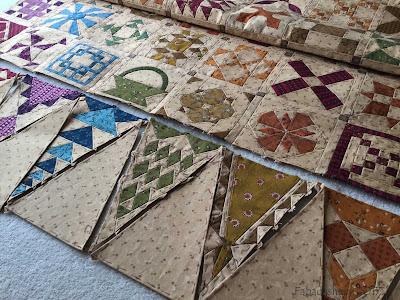 Dear Jane Quilt - Slow Stitching Sunday