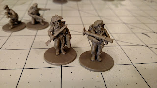 Bolt Action British Commandos Assembled PIAT Team