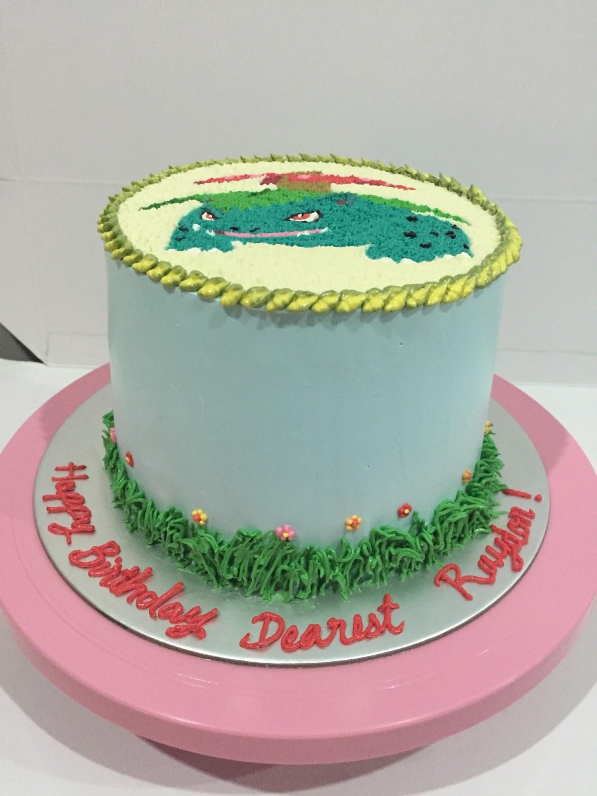 Cherish Bakes Venusaur Pokemon Birthday Cake