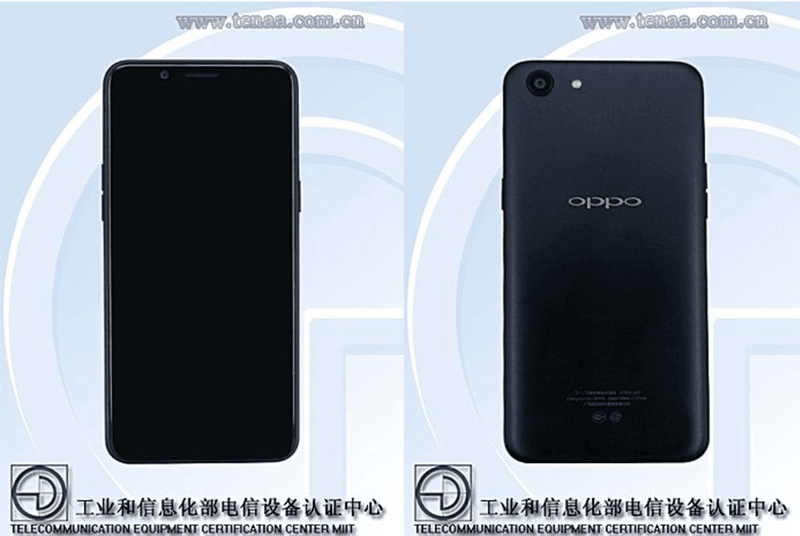 OPPO A83 w/ 5.7-inch 18:9 screen certified by TENAA