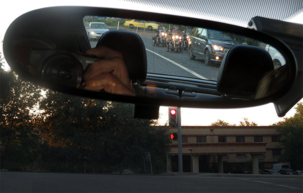 VW Beetle rear view mirror.