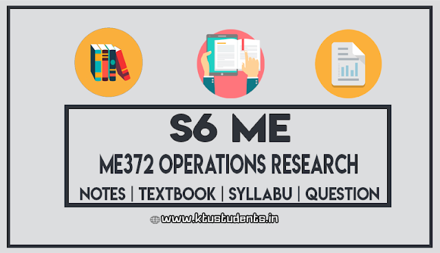 ktu me ME372 Operations Research