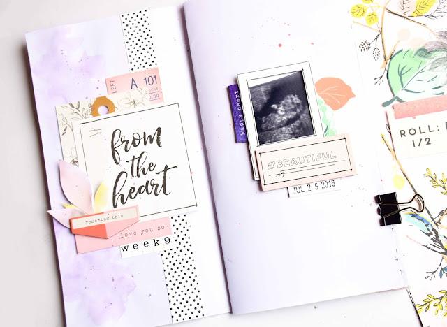 Mini album diario de embarazo