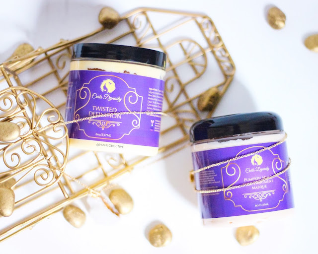 Review: Curls Dynasty Pumpkin Mint Deep Treatment Masque and Twisted Definition