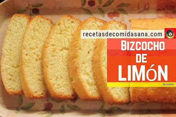 Receta de bizcocho de limón casero