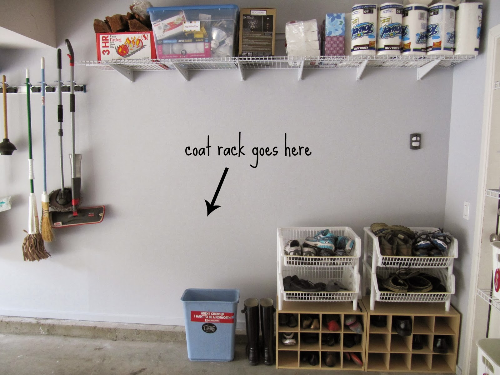 Shoe Storage: Garage Coat And Shoe Storage