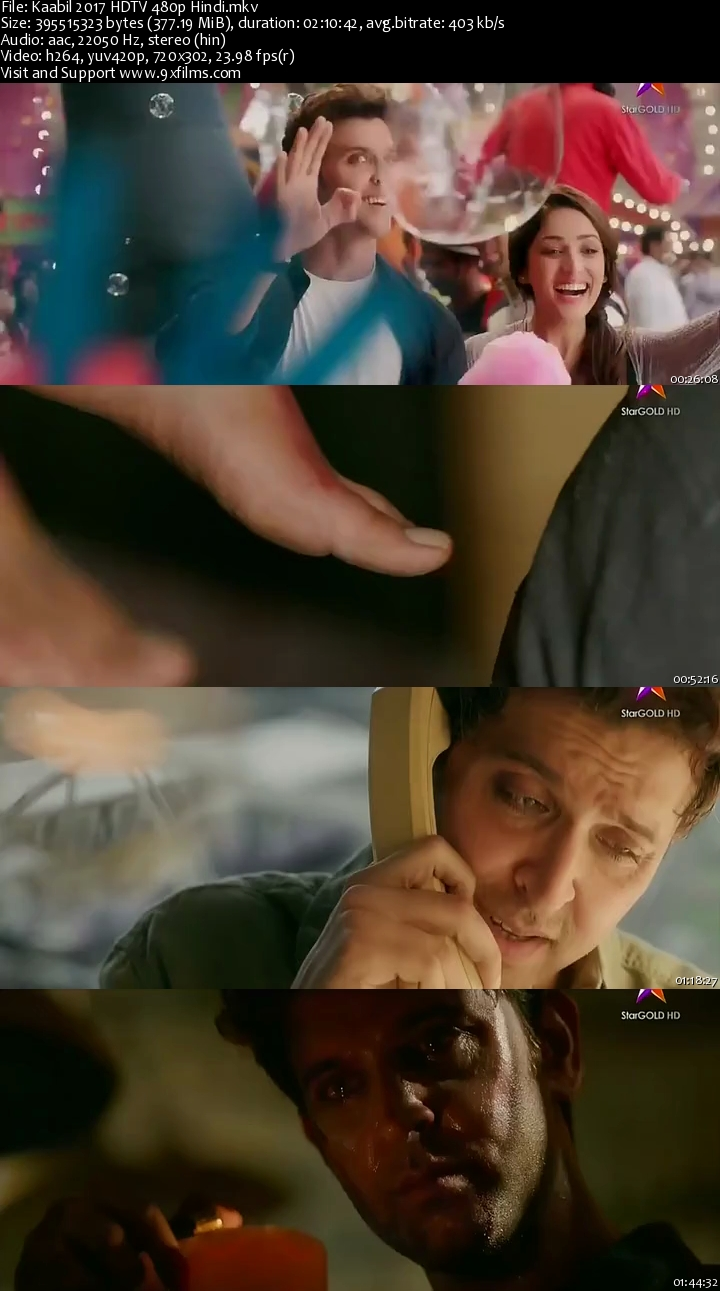 Kaabil 2017 HDTV 480p Hindi