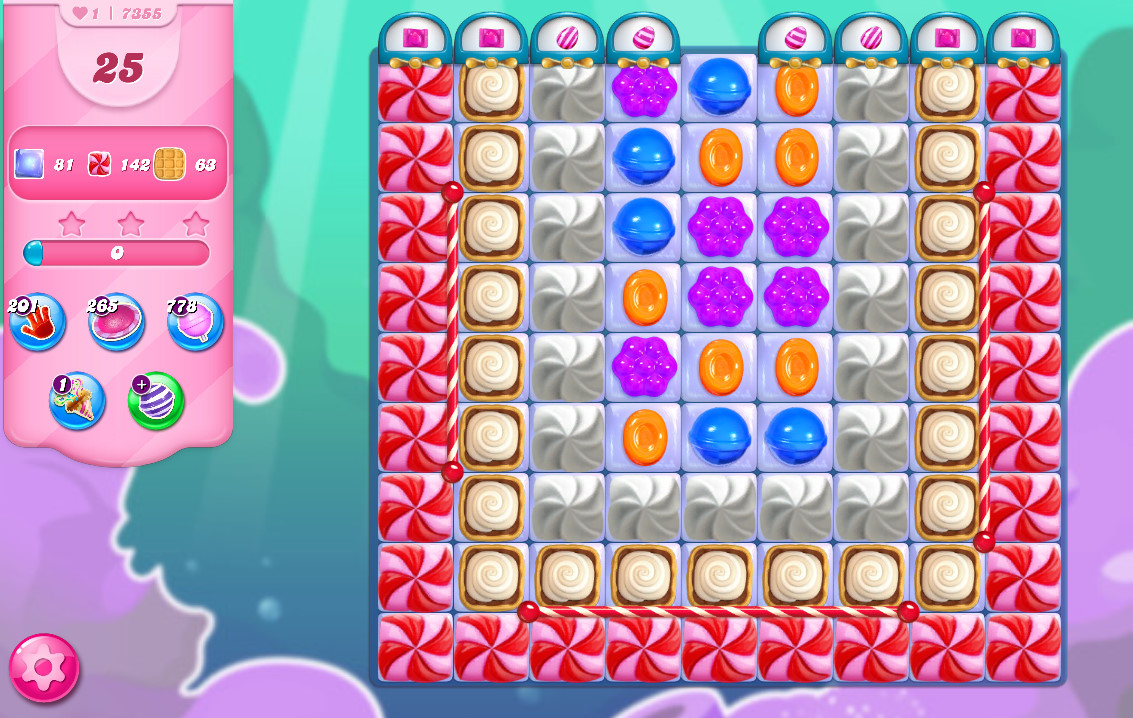 Candy Crush Saga level 7355
