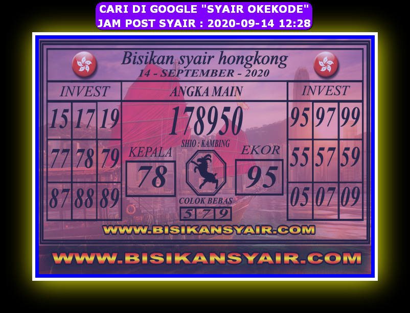 Kode syair Hongkong Senin 14 September 2020 282