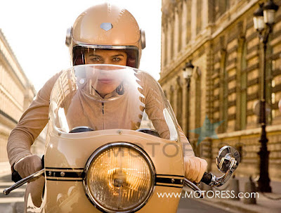 A beautiful Fake: Coco Chanel Motorcycle Woman