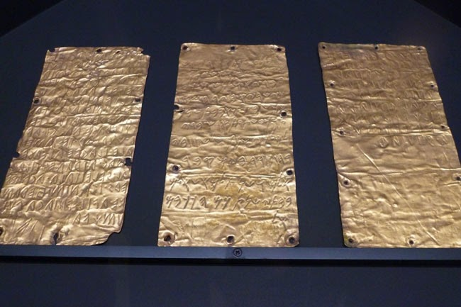 Lâmina do tratado entre etruscos e fenícios