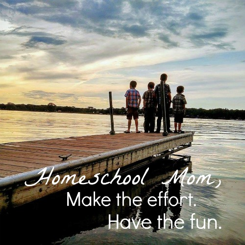 Homeschool Mom, Make the effort. Have the fun.