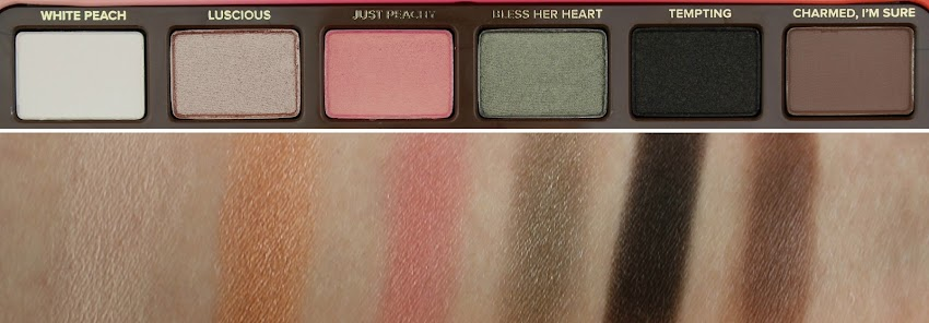 Revue & Idée Makeup La palette Sweet Peach de Too Faced swatches