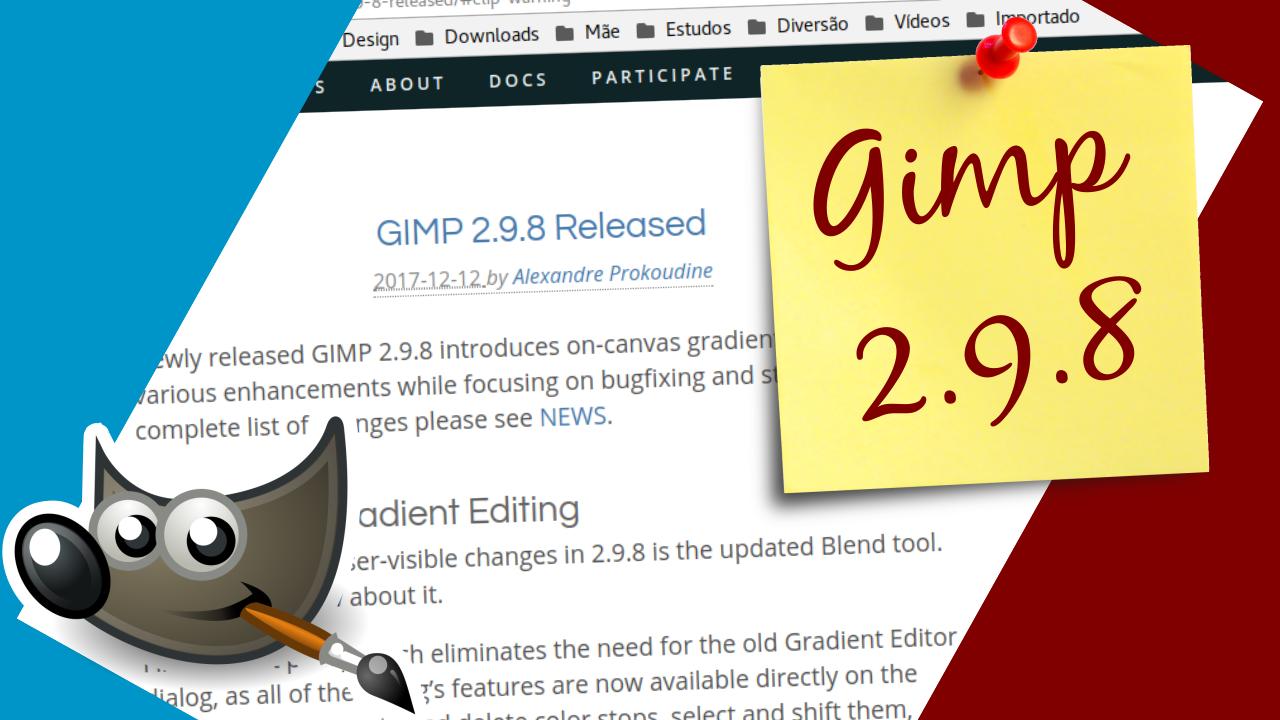 Gimp 2.9.8 lançado