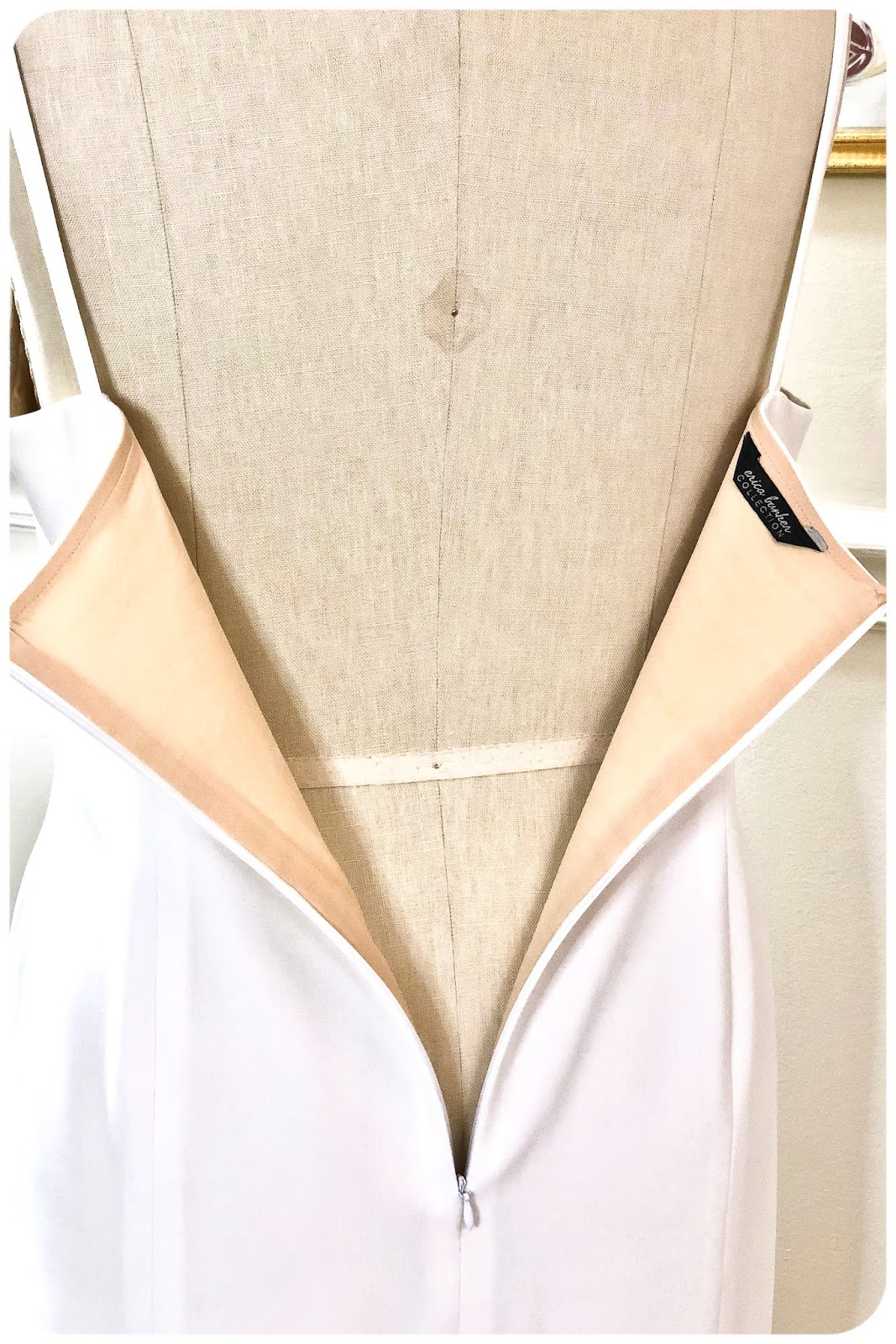 DIY White Bow Dress Zipper Detail - Erica Bunker DIY Style!