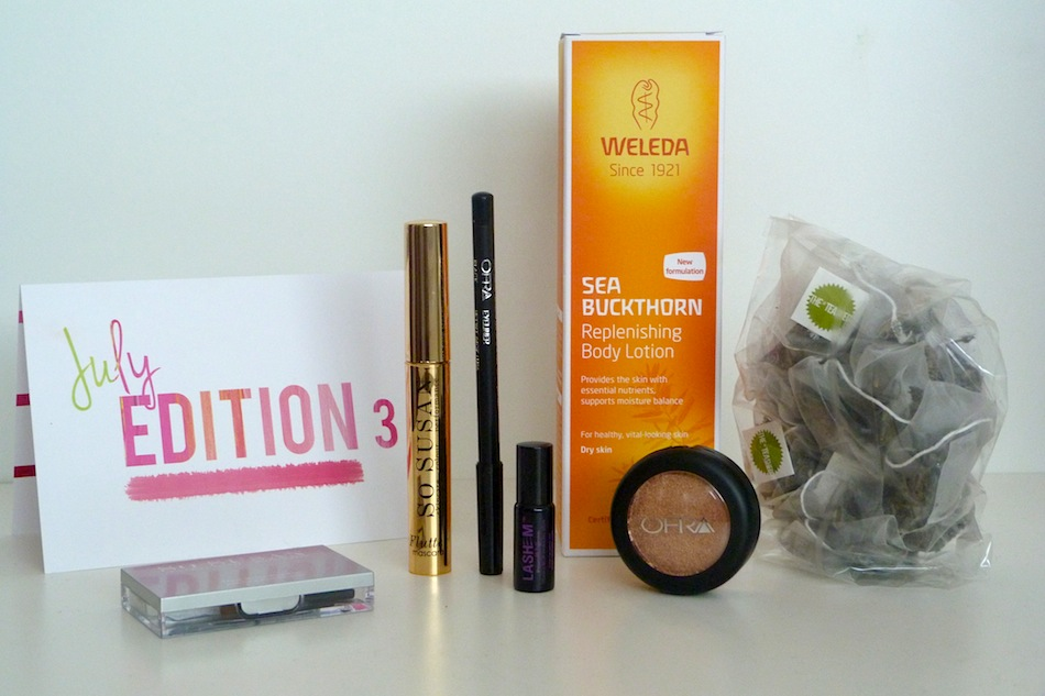 an image of love me beauty july contents