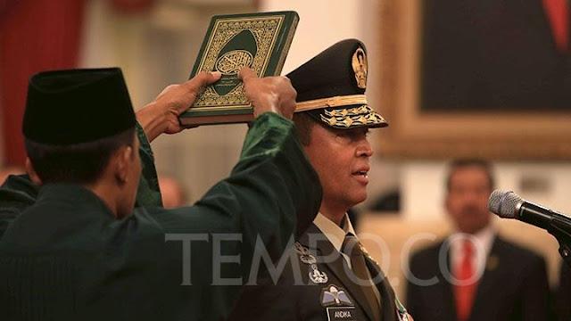 KSAD Andika Perkasa Janji TNI AD Netral di Pemilu 2019