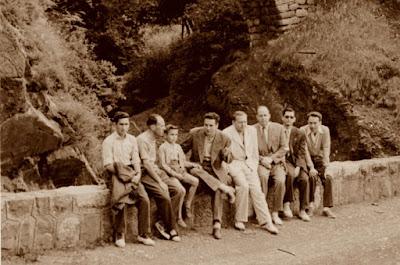 Los ajedrecistas Sánchez, Bas, Albareda, García-Orús, Ribera, Pere Puig y Ridameya en 1956