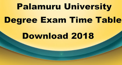 Manabadi PU Degree Time Table 2018 Download, Schools9 PU UG Time Table 2018