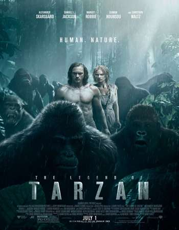 Poster Of The Legend of Tarzan 2016 Hindi Dubbed 700MB pDVD x264 Free Download Watch Online Worldfree4u