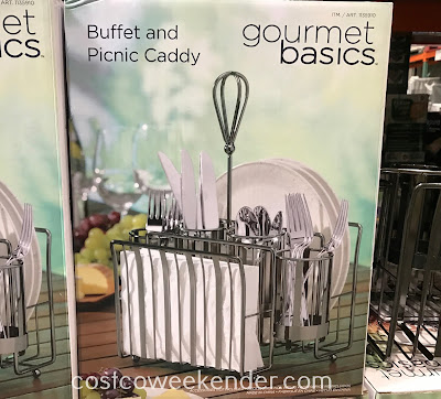 Don't forget the Gourmet Basics by Mikasa Buffet and Picnic Caddy when dining al fresco