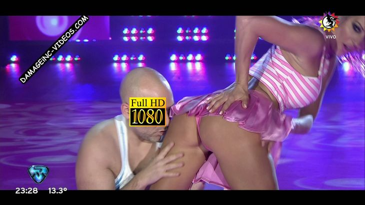 Noelia Marzol hot booty in pink thong Damageinc Videos HD