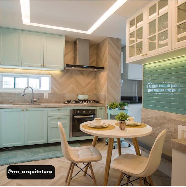 cozinha-verde-menta-porcelanato-madeira