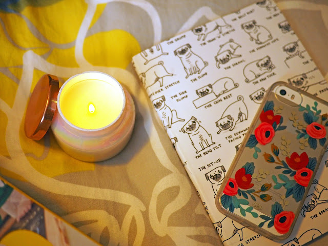 Candle, Notebook, Phone, Rifle Paper Co