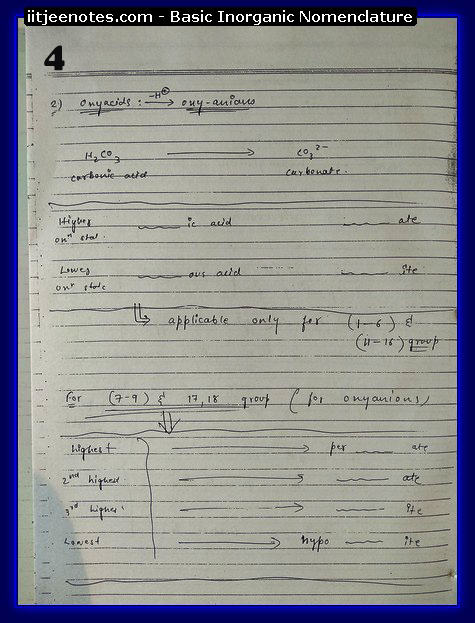 Inorganic Nomenclature4