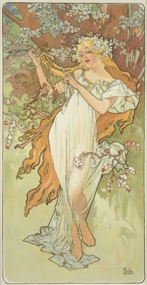 The Seasons: Spring by Mucha