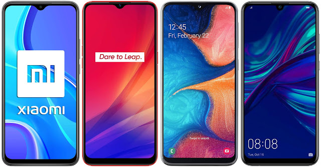 Xiaomi Redmi 9 vs Realme C3 vs Samsung Galaxy A20e vs Huawei P Smart 2019