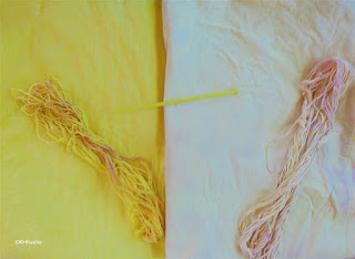 cotton dyed with turmeric