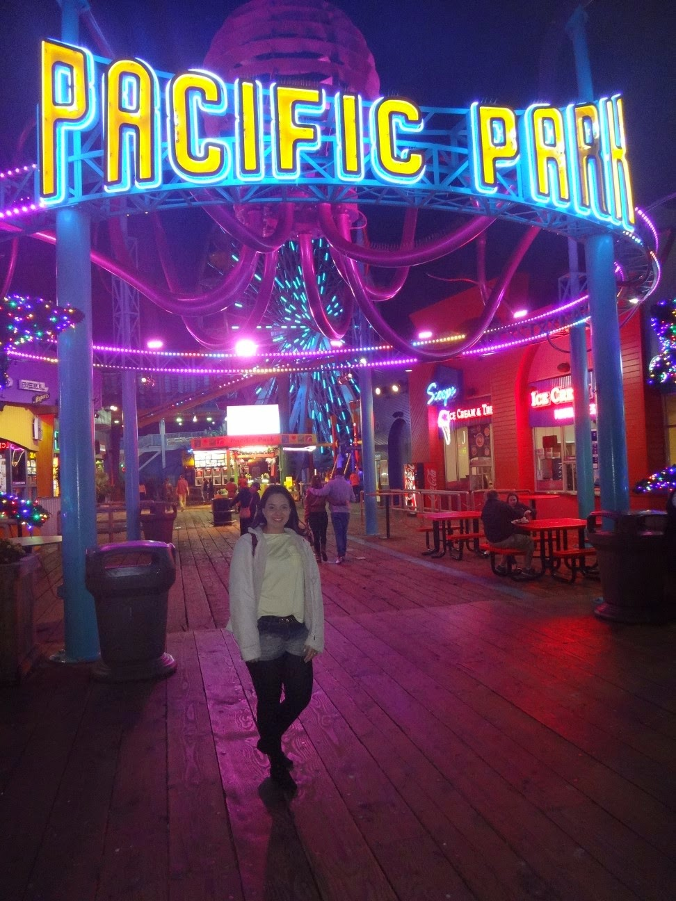 pacific park - pier de santa monica - los angeles - california'