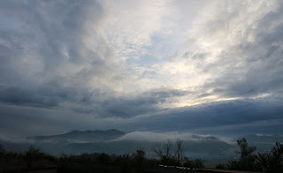 A dramatic shot across the valley this morning
