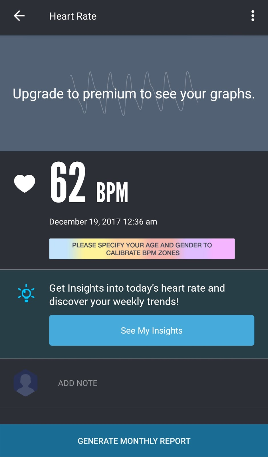 Results for heart rate pulse