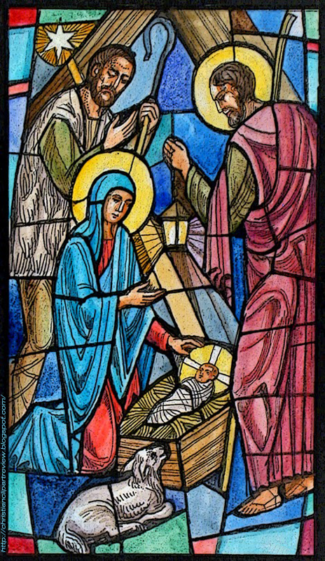 Stained Glass Nativity Illustration | Christian Clip Art ...