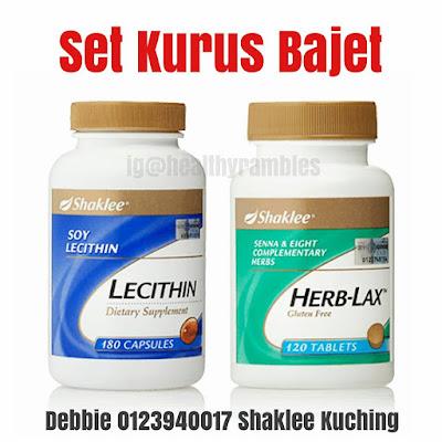 Set Kurus Bajet - Lecithin dan Herb-Lax