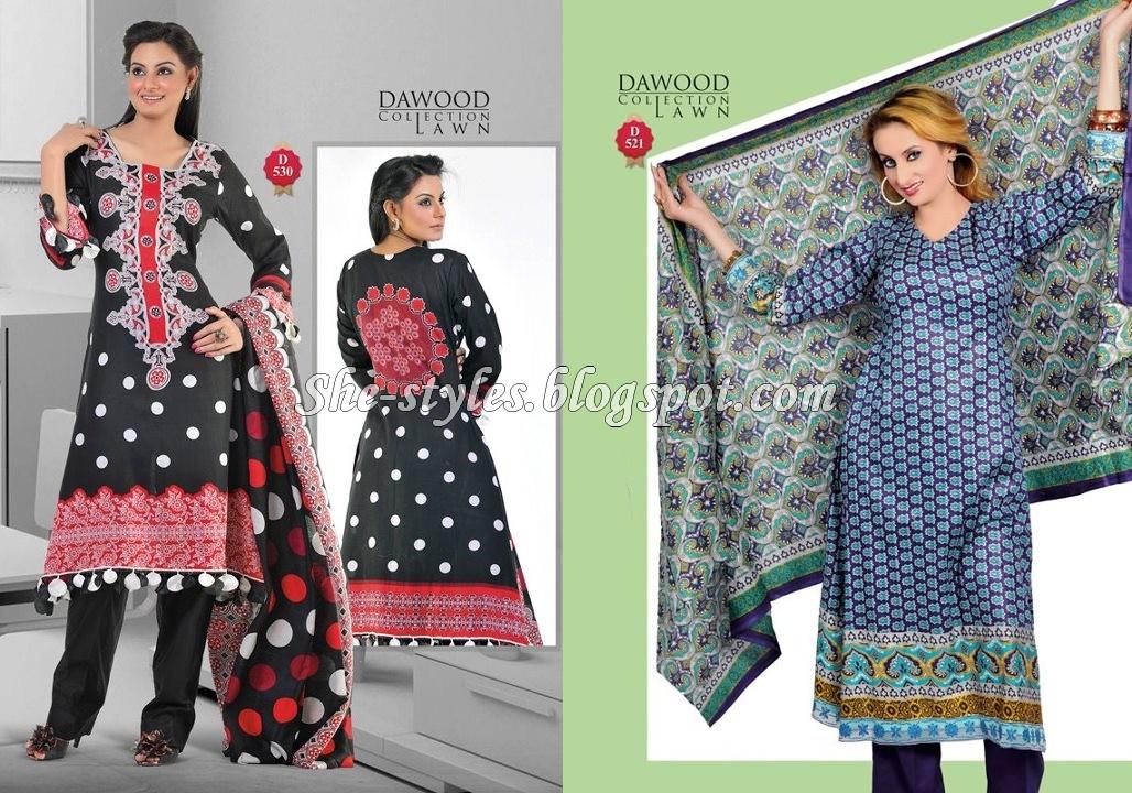 ea8149102d Dawood Lawn Pakistani Salwar Kameez 2012 | She-Styles | Pakistani Designer  Dresses - Fashion Weeks - Lawn Collection